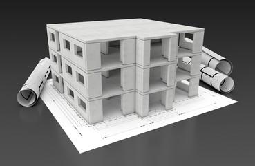 Haus Plan Mauer Architektur