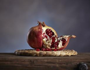 Italy, Fruit, Pomegranate still life