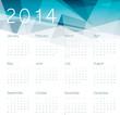 Calendar 2014. Vector.