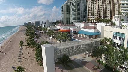 Fort Lauderdale Beach aerial view