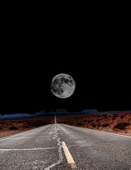 Moon at end  of Road