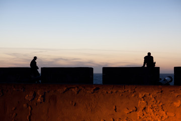 Essaouira Fortress at twilight, Morocco