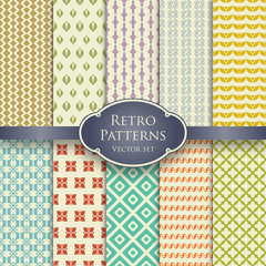 Retro patterns set 1