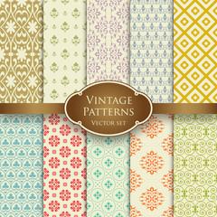 Vintage patterns set 1