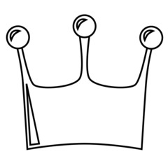 crown illustration black and white
