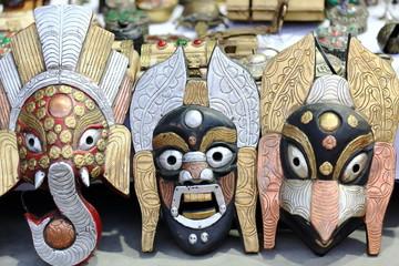 Wood and metal masks. Pokhara-Nepal. 0680