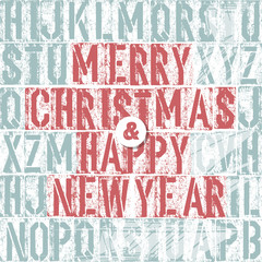 Merry Christmas Letterpress Concept