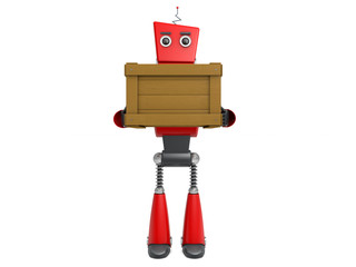 red robotic toy