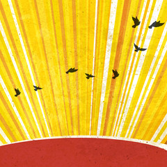 Retro Sunrays Background. Vector, EPS10