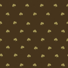 Clover leaf seamless pattern. Vector, EPS10