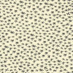 Hand-drawn asterisk seamless pattern. Vector