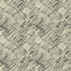 Dark scribble seamless pattern. Vector