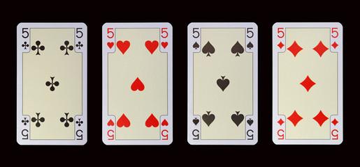 Spielkarten der Ladys - FÜNF