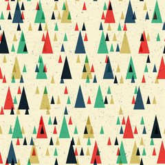 Geometric retro seamless pattern. Vector