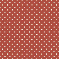 Vintage Textured Polka Dot Seamless Pattern