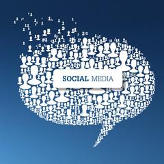 Social Media Bubble Speech Concept. Vector