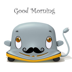 Toaster Movember 3d illustration