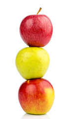 Äpfel auf weißem Hintergrund