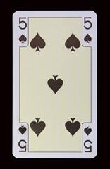 Spielkarten der Ladys - Pik Fünf