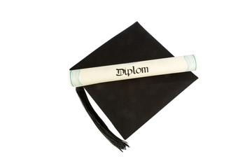 Diplom auf Doktorhut