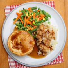 Steak Pie Dinner