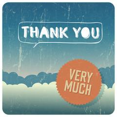 "Vintage ""Thank You"" card. Vector"