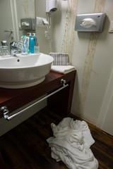 Handtücher in einem Hotel zum Wechseln
