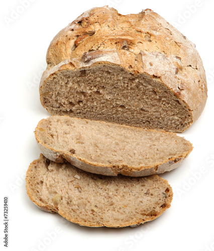 Staande foto Brood Sliced Artisan Bread Loaf