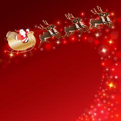 Schlittenfahrt mit Santa Clause