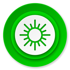 sun icon, waether forecast sign