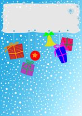 Weihnachtshintergrund Himmel Schnee
