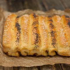 sweet rolls with orange jam
