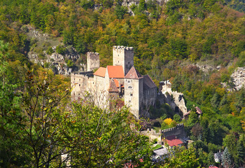 Hardegg Castle and the valley of the River Thaya (Dyje), Austria