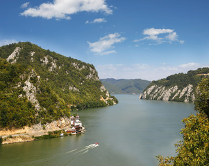 Danube gorge, Danube in Djerdap (Iron gates), Serbia, Romania
