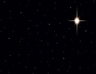 Christmas star in night sky