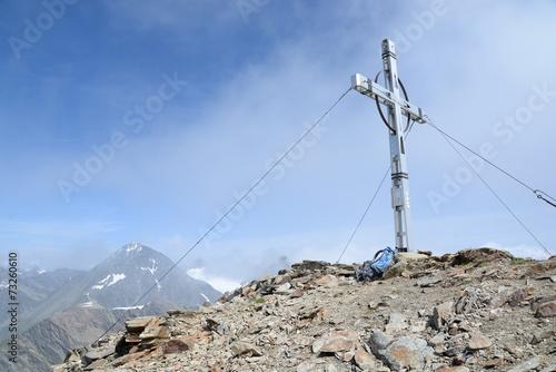 canvas print picture Auf dem Hinteren Daunkopf. Stubaier Alpen