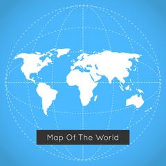 Mono blue background illustration of Earth.