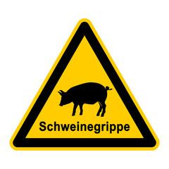 wso90 WarnSchildOrange - Symbol Schild - Schweinegrippe - g2549