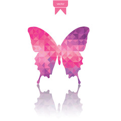 abstract geometric butterfly