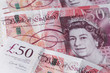 Uk currency Fifty pounds notes - 73261478