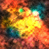 Star field in space, a nebulae and a gas congestion.