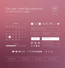 Flat and modern website user interface