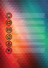 Abstract geometric background, web page, flyer.