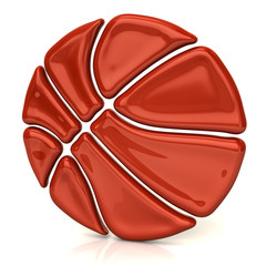 Orange basket ball icon