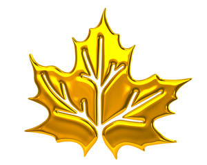 Golden maple leaf icon