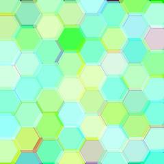 Background with birch acid hexagons. Raster