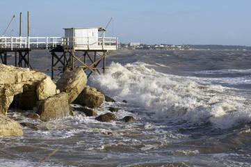 grandes marées à Royan , France
