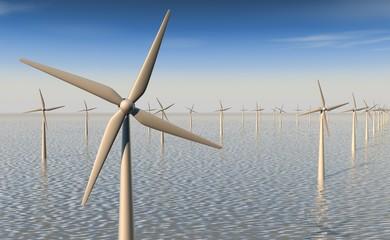 Windenergie - close-up wieken windmolen