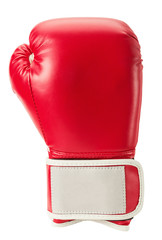 boxing glove isolated on the white background