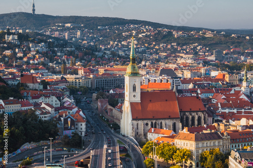 canvas print picture Bratislava - City View